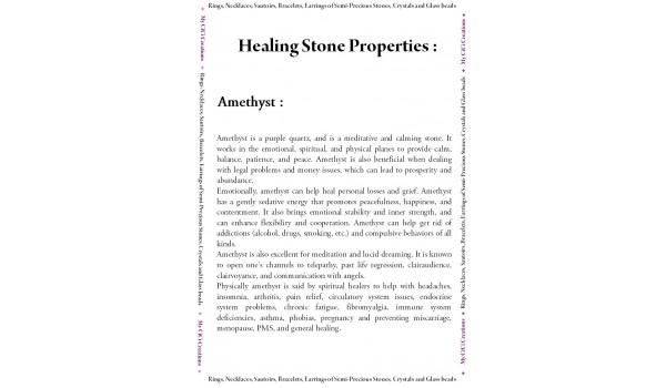Propriétés des pierres